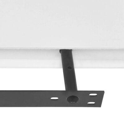 Conjunto 2 prateleiras suspensas de parede, MDF, branco