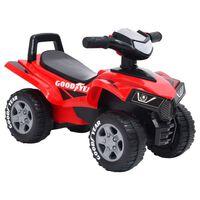 vidaXL Moto-quatro infantil Good Year vermelho
