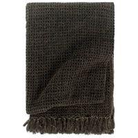 vidaXL Manta em algodão 125x150 cm antracite/castanho