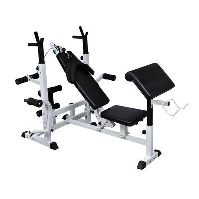 vidaXL Banco de musculação p/ treino variado,