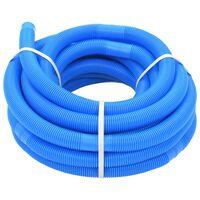 vidaXL Mangueira de piscina azul 32 mm 15,4 m