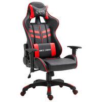 vidaXL Cadeira de gaming couro artificial vermelho