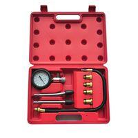 Kit de teste de compressão do motor a gasolina, 9 peças