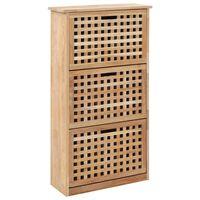 vidaXL Sapateira 55x20x104 cm madeira de nogueira maciça
