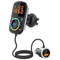 Transmissor FM USB MP3 Bluetooth PD / QC para o carro
