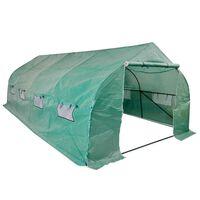 vidaXL Estufa/túnel de polietileno portátil com estrutura em aço 18 m²