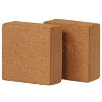 vidaXL Bloco em fibra de coco 2 pcs 5 kg 30x30x10 cm