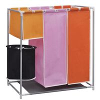 Sorteador para lavanderia com cesto, 3 secções