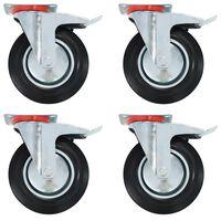 vidaXL 12 pcs rodas giratórias 200 mm