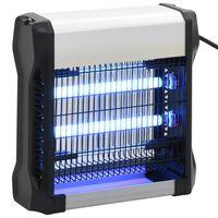 vidaXL Eletrocutor de insetos preto alumínio ABS 12 W