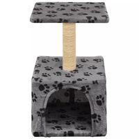 vidaXL Árvore para gatos c/postes arranhadores sisal 55 cm cinzento