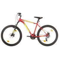 vidaXL Mountain Bike 21 Speed 27,5 inch Wheel 50 cm Red (92345+92349)