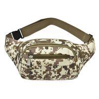 Bolsa de cintura com estampa - camuflagem marrom