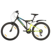 vidaXL Mountain Bike 21 Speed 26 inch Wheel 49 cm Black (92358+93247)