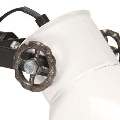 vidaXL Candeeiro de pé com 2 abajures E27 ferro fundido branco