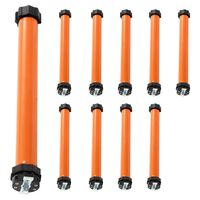 vidaXL Motores tubulares 10 pcs 10 Nm