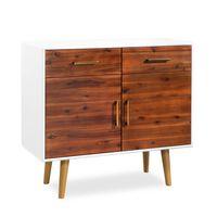 vidaXL Aparador madeira de acácia maciça 90x33,5x83 cm