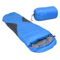vidaXL Saco-cama de campismo tipo múmia infantil leve 670g 10 ºC azul