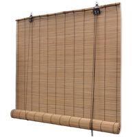 vidaXL Estore/persiana em bambu 150x160 cm castanho