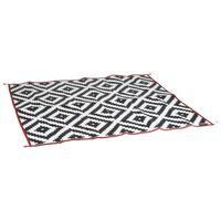 Bo-Camp Tapete de exterior Chill mat Picnic 2x1,8 m preto e branco