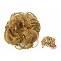 Scrunchie com cabelo sintético - marrom