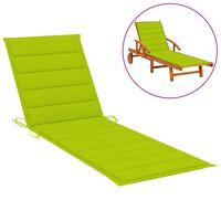 vidaXL Almofadão p/ espreguiçadeira 200x60x4 cm tecido verde brilhante