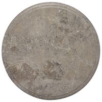 vidaXL Tampo de mesa Ø40x2,5 cm mármore cinzento