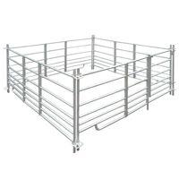 Curral/recinto para ovelhas c/ 4 painéis aço galvanizado 183x183x92 cm