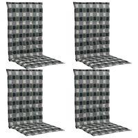 vidaXL Almofadões cadeiras jardim estampados 4 pcs 120x50x3cm multicor