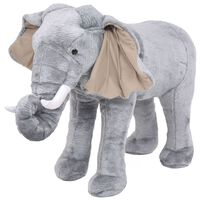 vidaXL Elefante de montar em peluche cinzento XXL