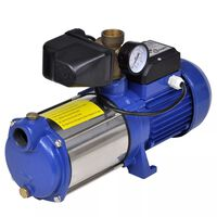 Bomba de jato com manómetro 1300 W 5100 L/h azul