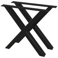 vidaXL Pernas para mesa de jantar 2 pcs estrutura em X 80x72 cm