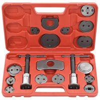 vidaXL 18 pcs kit de ferramentas recuo pistão pinça do travão de disco
