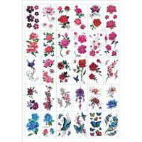Esfregar - tatuagens temporárias 30 folhas de flores