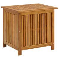 vidaXL Caixa arrumação para jardim 60x50x106 cm madeira acácia maciça