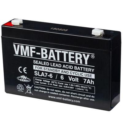 VMF Bateria AGM estacionária e cíclica 6 V 7 Ah SLA7-6