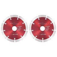 vidaXL Discos de corte de diamante 2 pcs aço 125 mm