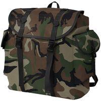 vidaXL Mochila estilo camuflagem do exército 40 L