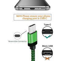 Cabo de carregamento trançado USB-C de 1,8 m - verde
