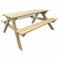 vidaXL Mesa de piquenique 150x135x71,5 cm madeira