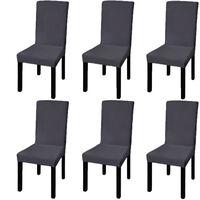 vidaXL Capa extensível para cadeira 6 pcs antracite