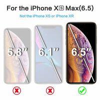 Vidro de proteção de tela para vidro temperado iPhone XS Max - preto