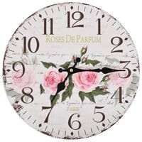 vidaXL Relógio de parede vintage florido 30 cm