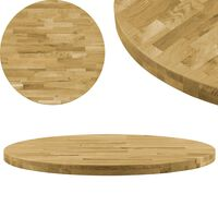 vidaXL Tampo de mesa madeira de carvalho maciça redondo 44 mm 800 mm