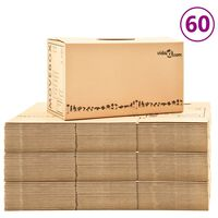 vidaXL Caixas para mudanças XXL 60 pcs 60x33x34 cm