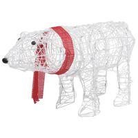 vidaXL Decoração de Natal urso com 45 luzes LED 71x20x38 cm acrílico