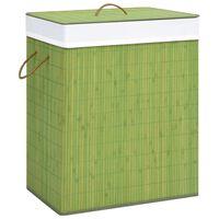 vidaXL Cesto para roupa suja 83 L bambu verde