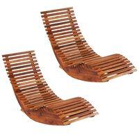 vidaXL Espreguiçadeiras de baloiçar 2 pcs madeira de acácia