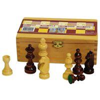 Abbey Game Peças de xadrez 87 mm preto/branco 49CL