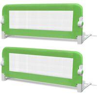 vidaXL Barra de segurança para cama de criança 2 pcs 102x42 cm verde